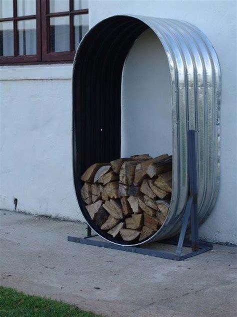creative firewood storage    focal point