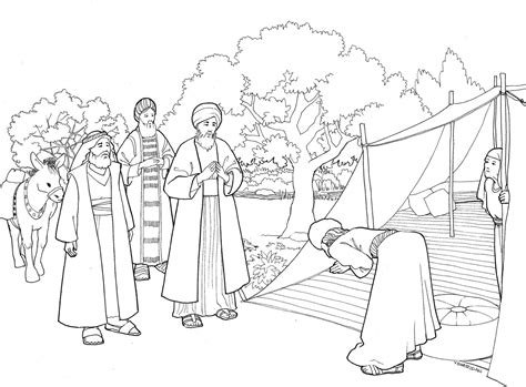 coloring page of abraham and lot abraham and lot coloring pages collection coloring for