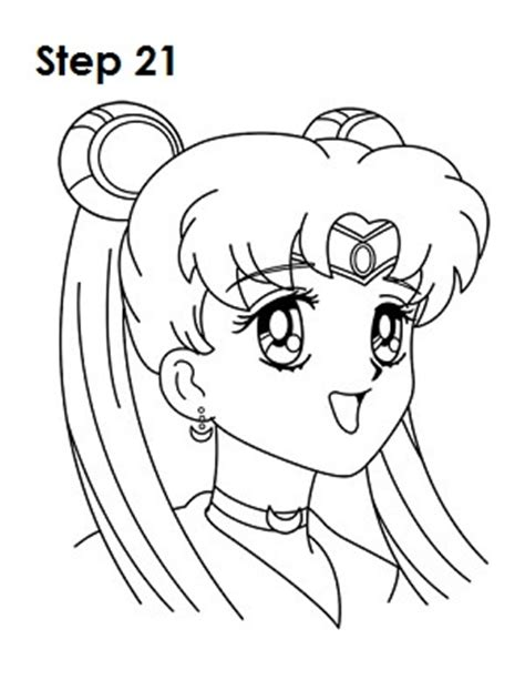 cute and simple sailor moon how to draw sailor moon