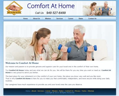 comfort care home designing web development design portfolio by ozone in va