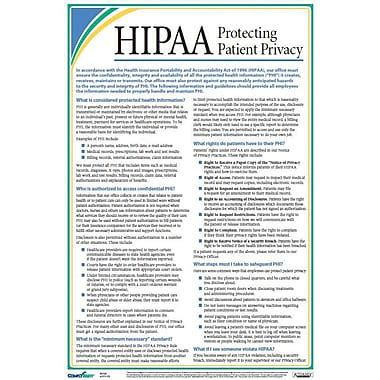 free printable hipaa poster complyright hipaa protecting patient privacy poster staples 174