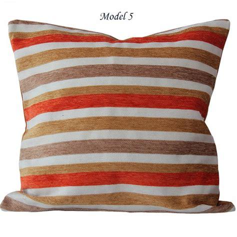 kissen mit reißverschluss kissenh 252 lle 40 x 40 cm bunt gestreift orange grau rot