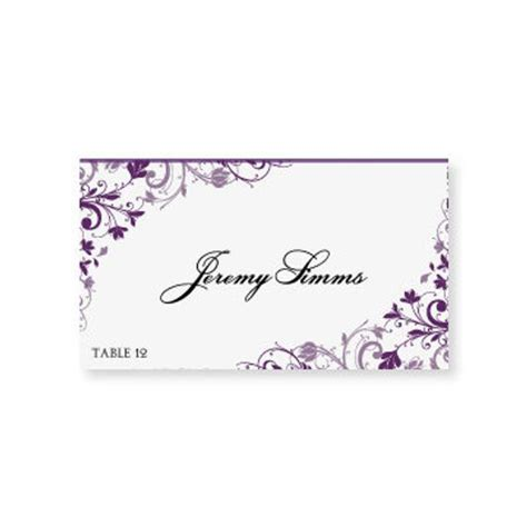 Name Place Cards Template Word by Instant Wedding Place Card By Diyweddingtemplates