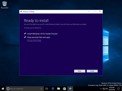 install windows 10 keep files how to install anniversary update from an iso