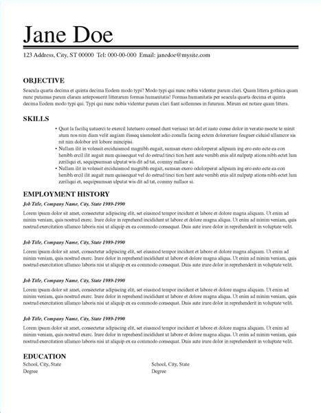 Resume Layout Exles by Objective Ideas For Resume 28 Images Personal