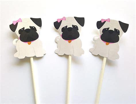 pug cupcake toppers pug cupcake toppers puppy cupcake toppers pug cupcake toppers by