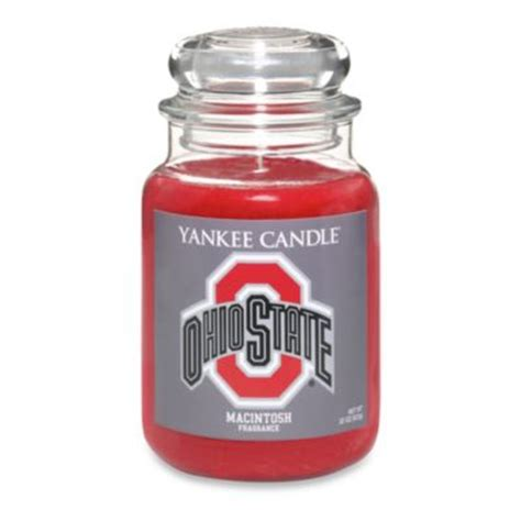 state candles yankee candle 174 ohio state university large jar fan candle