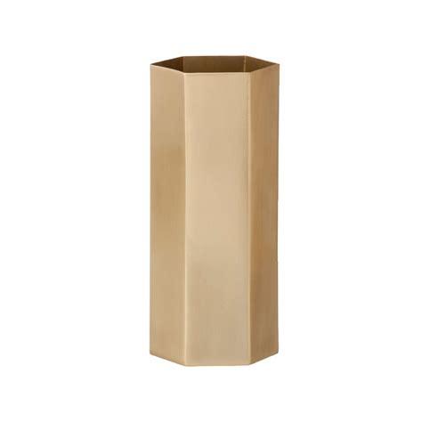 ferm living vase ferm living hexagon vase brass design shop