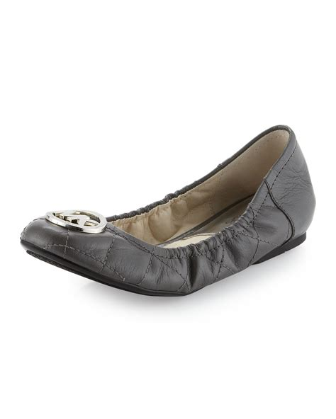 Michael Kors Fulton Quilted Ballet Flats by Michael Michael Kors Fulton Quilted Ballerina Flat In Gray