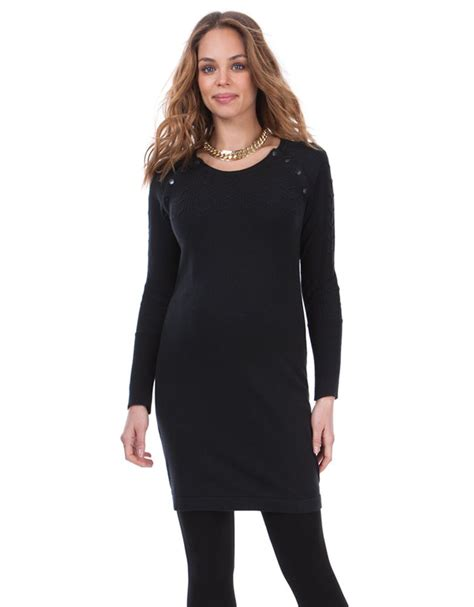 black cotton knit dress black cotton cable knit maternity nursing dress seraphine