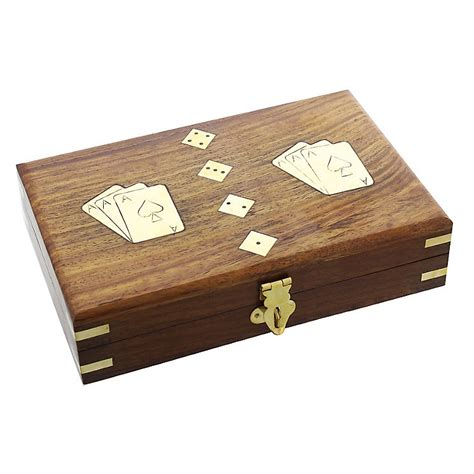 wooden sts for card wooden card dice gift set h samuel