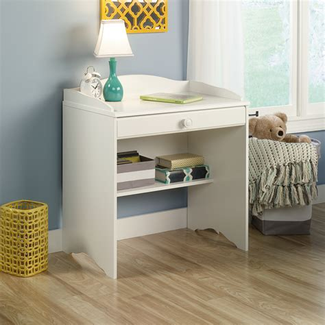sauder desk white white sauder storybook computer desk storage shelf drawer
