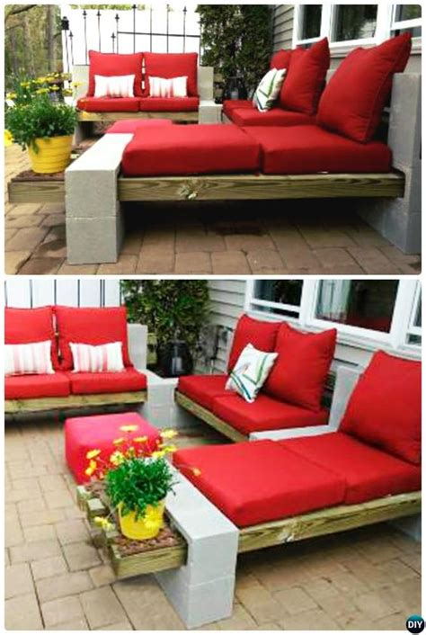 cinder block couch 40 cool ways to use cinder blocks