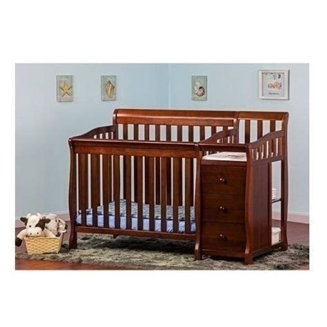 Mini Crib With Changer by Espresso Mini Size Convertible 4 In 1 Crib Bed Baby