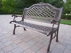 benches for outside cast aluminum outdoor bench