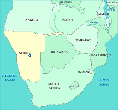africa map namibia image gallery namibia map africa