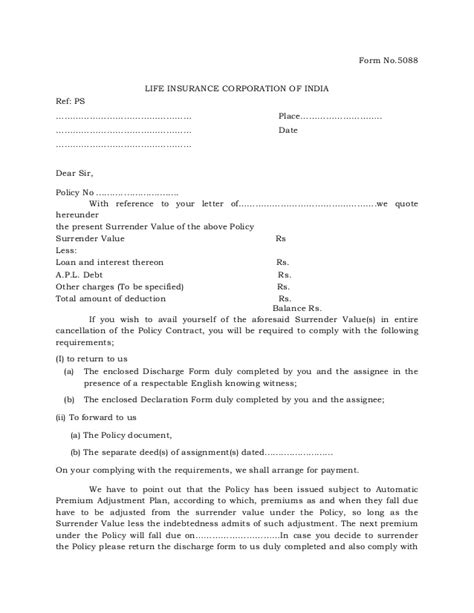 Insurance Quote Letter Value Quotation Letter Form 5088