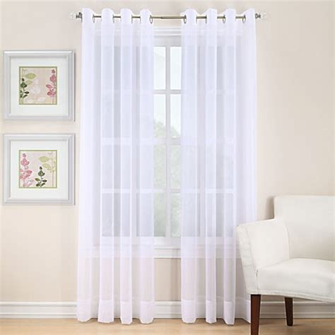 where to buy 95 inch curtains buy voile 95 inch sheer grommet window curtain panel in