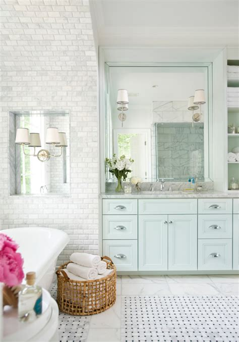 light turquoise bathroom clean design modern interior home decorating