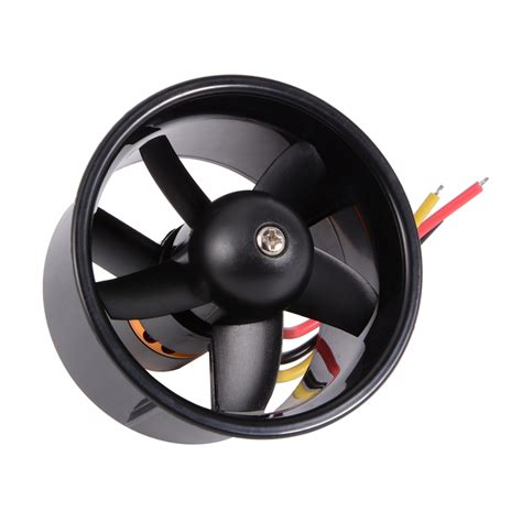 electric ducted fan jets rc plane 64mm edf 4500kv brushless motor with 5 blades ducted fan