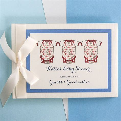 Personalised Baby Shower Book by Personalised Baby Shower Guest Book By 2by2 Creative