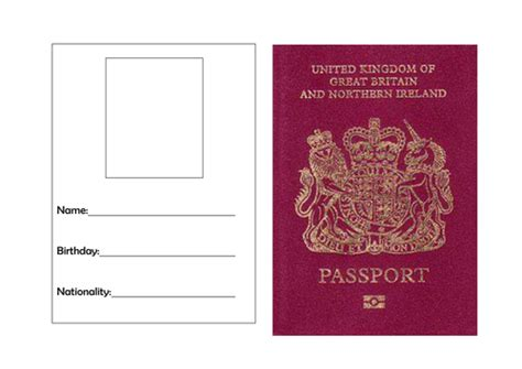 passport template by torstout teaching resources tes