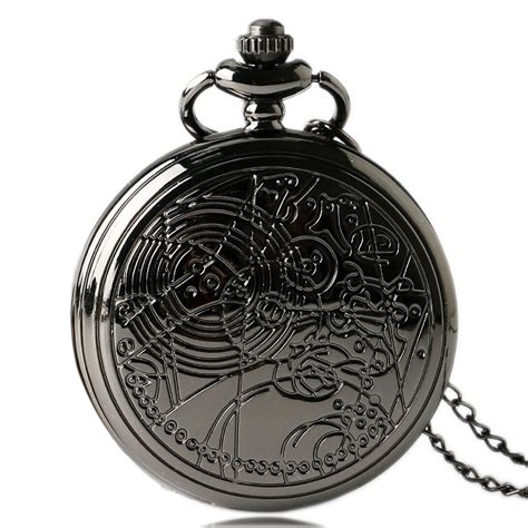 New Overall Pocket Ik mens fashion retro black doctor who necklace pocket