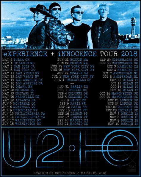 Poster U2 Band M102 u2songs u2 experience innocence tour leg two questions