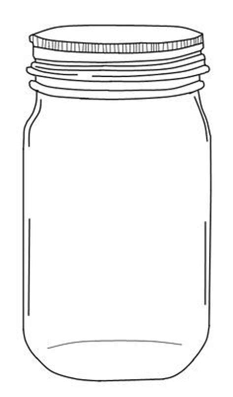 jar cut out template 9 best vector images on masons drawing and