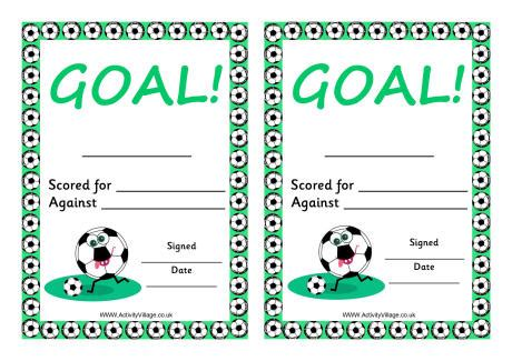 football certificates templates uk football certificate goal