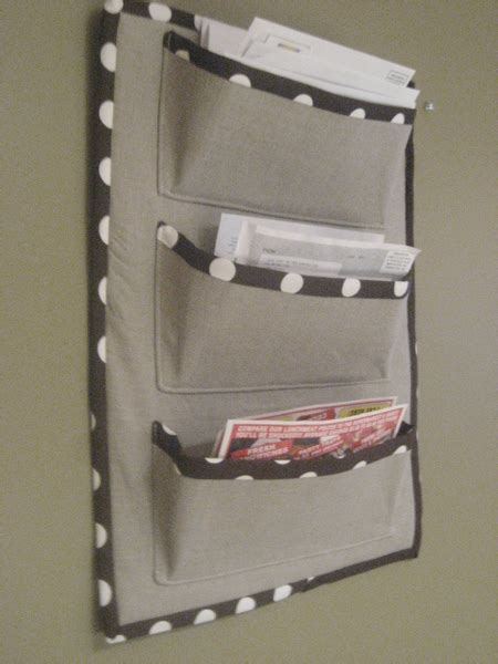 pattern for fabric wall organizer fabric mail sorter mail sorter mail holder and letter