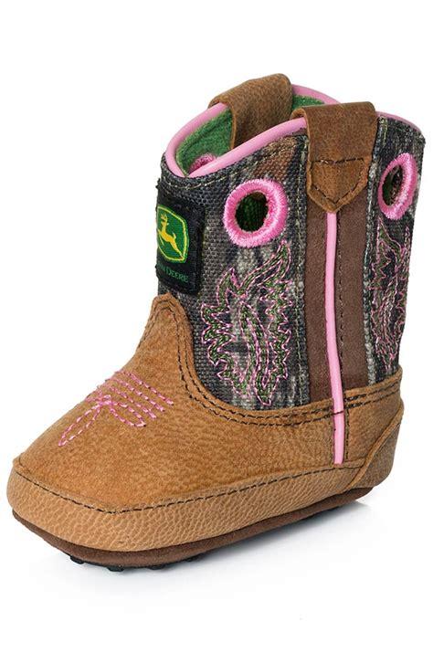 deere baby boots deere johnny popper infants crib boots pink camo