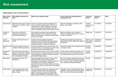 risk assessments templates magnificent risk assessment template qld photos entry