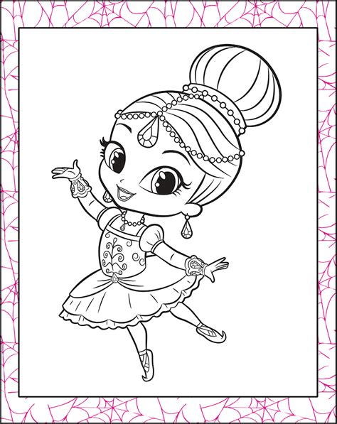 printable coloring pages shimmer and shine shimmer and shine coloring page get coloring pages