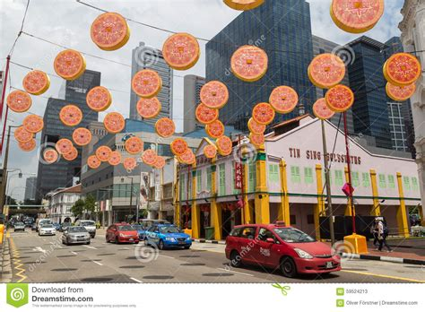 new year decorations singapore new year decoration singapore editorial stock