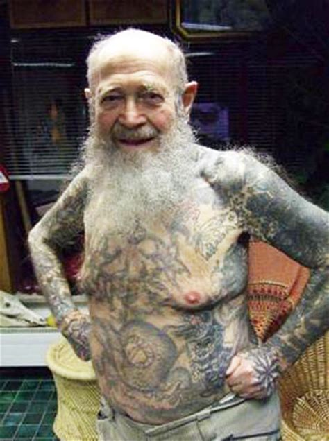 Old Man Tattoo Meme - funny old people