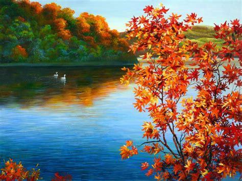 Car Wallpapers Desktops Forest by Autumn Lake Desktop Wallpaper Wallpapersafari