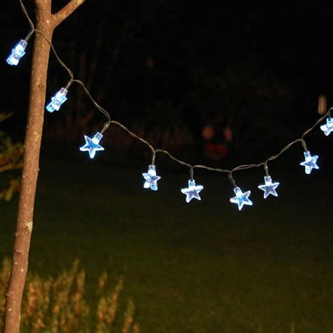 lumabase 30 light 13 ft white stars solar string light