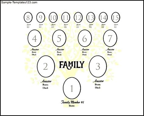 digital family tree template exle 4 generation family tree digital template sle