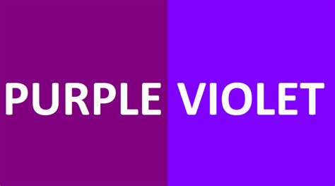 what s the difference between color and colour difference between purple and violet steemit