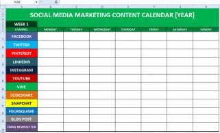 social media editorial calendar template social media content calendar template excel marketing