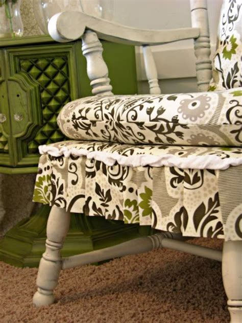 rocking chair cushion set with skirt top 25 best rocking chair redo ideas on