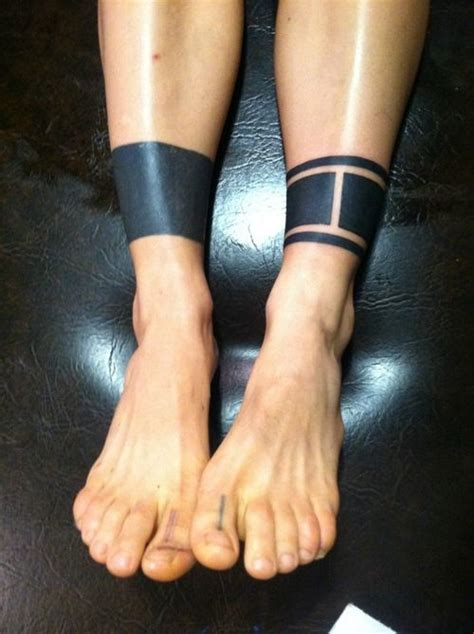 solid band tattoo designs 23 awesome leg band tattoos