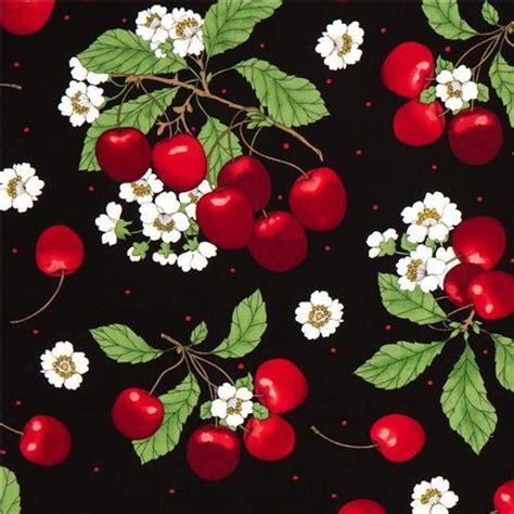 shop houzz kawaii fabric shop black cherry cherry