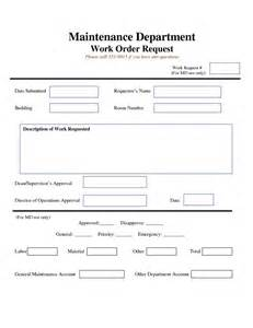 Work Order Maintenance Request Form Template by Work Request Form Maintenance Work Order Request Form