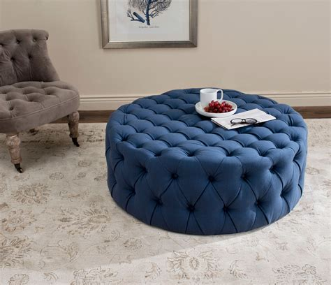 white and blue ottoman furniture glamorous blue tufted ottoman bring western