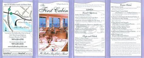 The Cabin Restaurant Menu by The Cabin Menu Newport Dineries