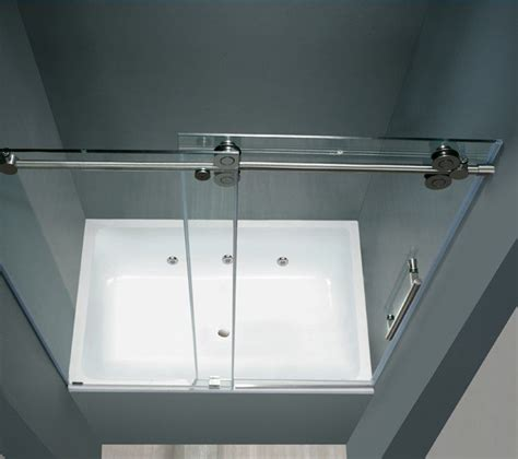 Barn Door Shower Door Barn Style Frameless Sliding Glass Shower Door Hardware
