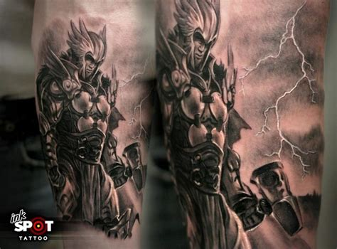 greek mythology sleeve tattoo designs god sleeve thor god of thunder