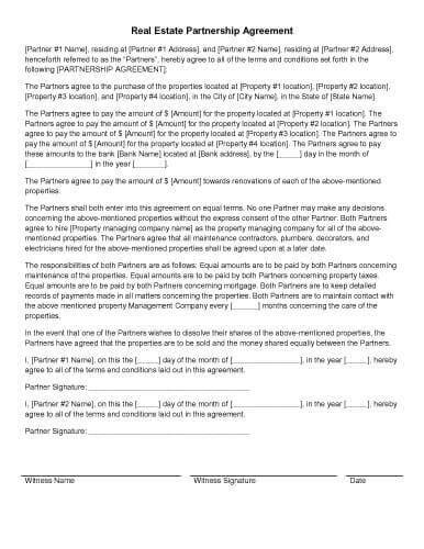 51 49 Partnership Agreement Template 31 sample agreement templates in microsoft word
